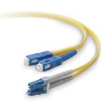 Belkin 3m LC / SC 3m LC SC Yellow fiber optic cable