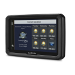 "Garmin dēzl 770LMT-D Fixed 7"" TFT Touchscreen 438g Black navigator"