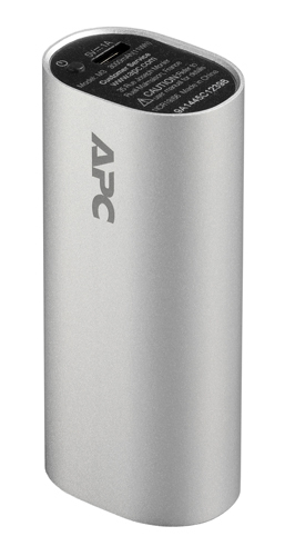 Mobile Power Pack 3000mAh Li-ion Cylinder - Silver