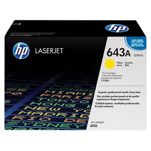HP Q5952A (643A) Toner yellow, 10K pages @ 5% coverage