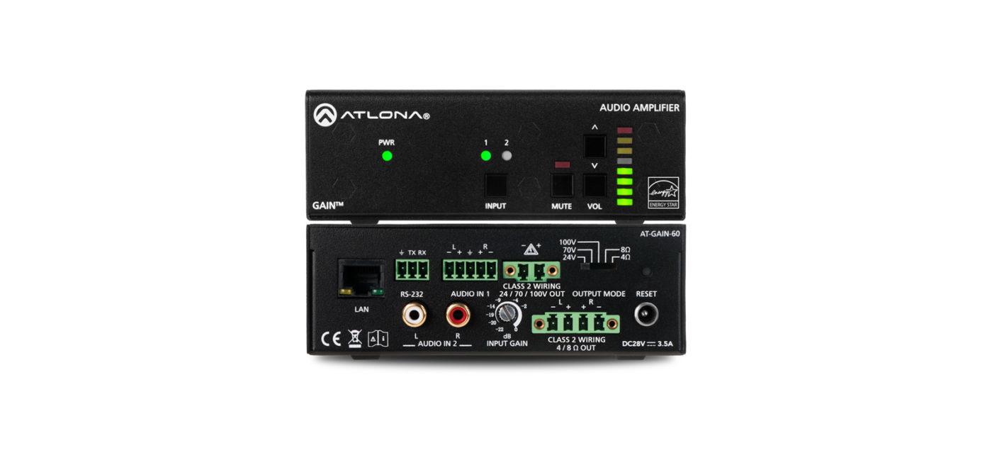 ATLONA GAIN-60 AUDIO AMPLIFIER 2.0 CHANNELS HOME BLACK