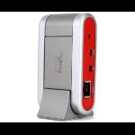 Phoenix Audio MT340 interface hub USB 2.0 Grey, Red
