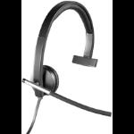 Logitech H650e Monaural Head-band Black,Grey headset