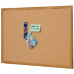 QUARTET CORKBOARD OAK FRAME 1500 X 900MM