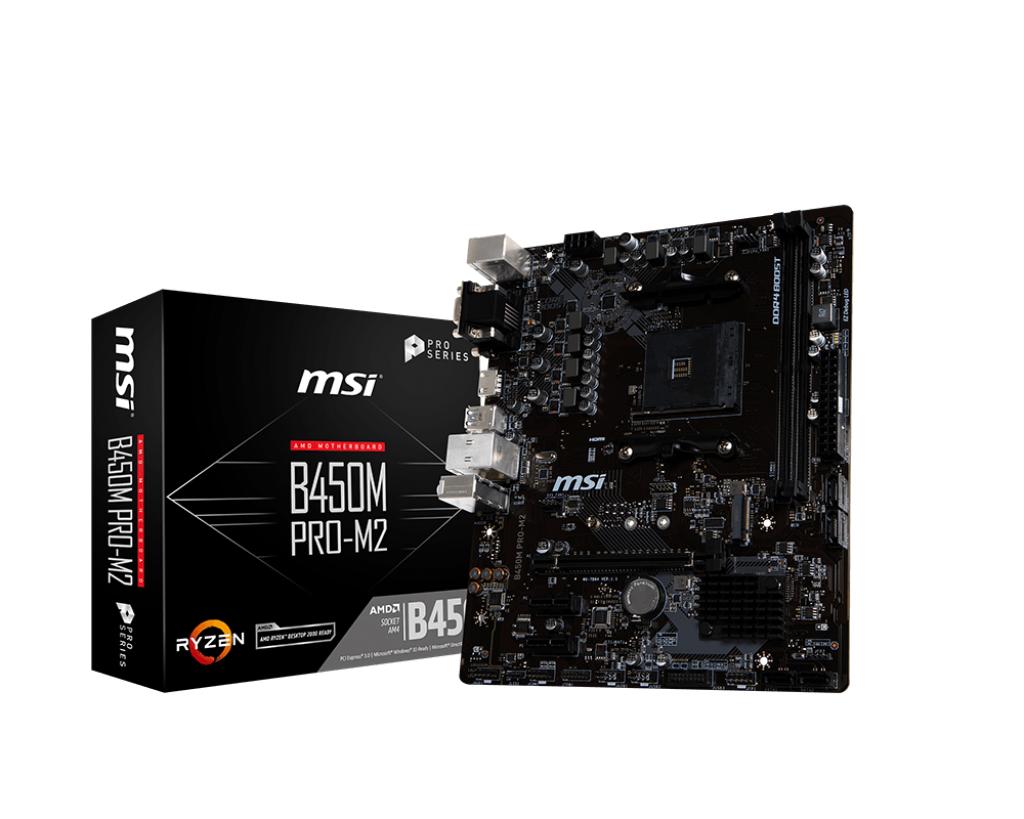 MSI B450M PRO-M2 motherboard Socket AM4 Micro ATX AMD B450
