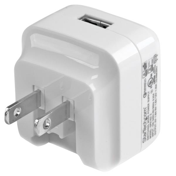 StarTech.com USB Wall Charger with Quick Charge 2.0 - International Travel - White