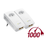 ZyXEL PLA5256 Starter Kit 1000Mbit/s Ethernet LAN White 2pc(s) PowerLine network adapter