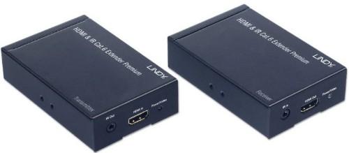 Lindy 38009 AV extender AV transmitter & receiver Black