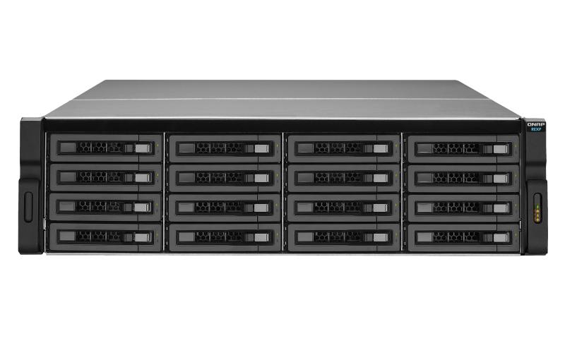 QNAP REXP-1620U-RP disk array 96 TB Rack (3U) Black,Grey