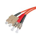 Cablenet 2m OM1 62.5/125 ST-SC Duplex Orange LSOH Fibre Patch Lead