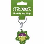 SKWEEK KEY RING SKWEEK NOVELTY RUBBER GREEN(EACH)