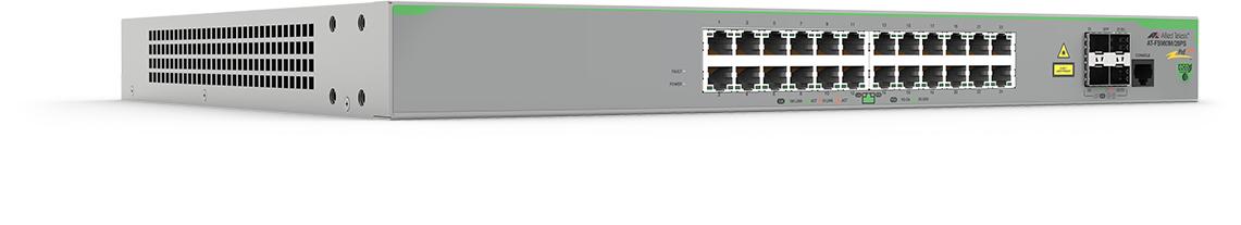 Allied Telesis AT-FS980M/28PS-50 Gestionado L3 Fast Ethernet (10/100) Gris Energía sobre Ethernet (PoE)