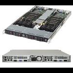 Supermicro SuperServer 1028TR-T Intel® C612 LGA 2011 (Socket R) Rack (1U) Schwarz, Silber