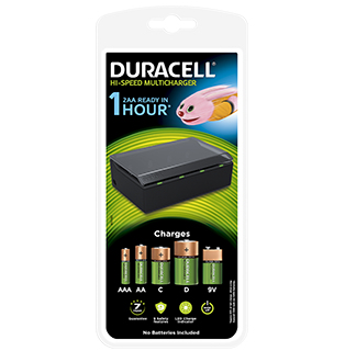 Duracell CEF22-EU Indoor battery charger Black battery charger
