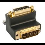 Lindy DVI-I Adapter DVI-I DVI-I M Black cable interface/gender adapter