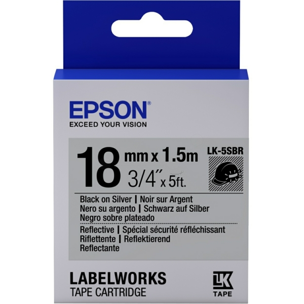 Epson C53S655016 (LK-5SBR) Ribbon, 18mm x 1,5m