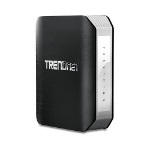 Trendnet TEW-818DRU wireless router Dual-band (2.4 GHz / 5 GHz) Gigabit Ethernet Black,Silver