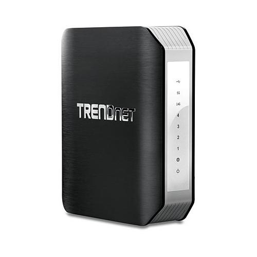 Trendnet TEW-818DRU Dual-band (2.4 GHz / 5 GHz) Gigabit Ethernet Black,Silver wireless router