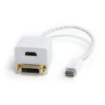 StarTech.com 1 ft Mini DVI to DVI-D & HDMI Splitter Cable - M/F