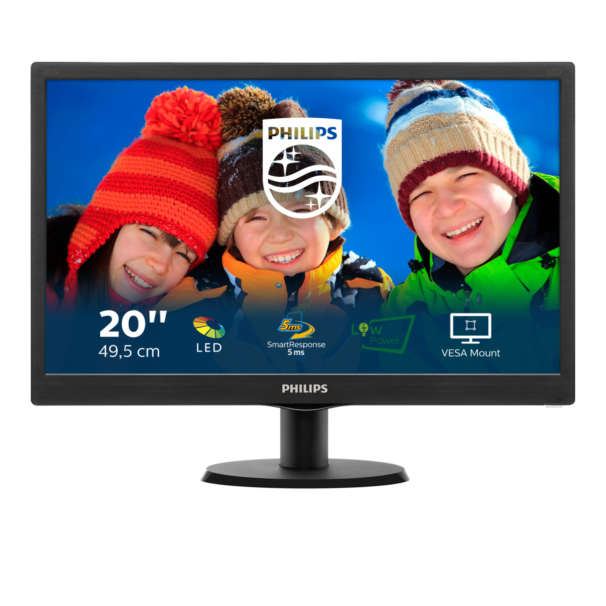 Philips V Line Monitor LCD con SmartControl Lite 203V5LSB26/10