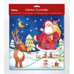 Memorex XMAS ADVENT CALENDAR SKIING SANTA 280X280MM(EACH)