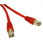 "C2G Shielded Cat5E Molded Patch Cable Red 10ft networking cable 118.1"" (3 m)"