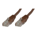 Microconnect 0.3m Cat6 RJ-45 0.3m Cat6 U/UTP (UTP) Brown networking cable