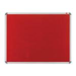 Nobo EuroPlus Felt Noticeboard Red 1200x900mm