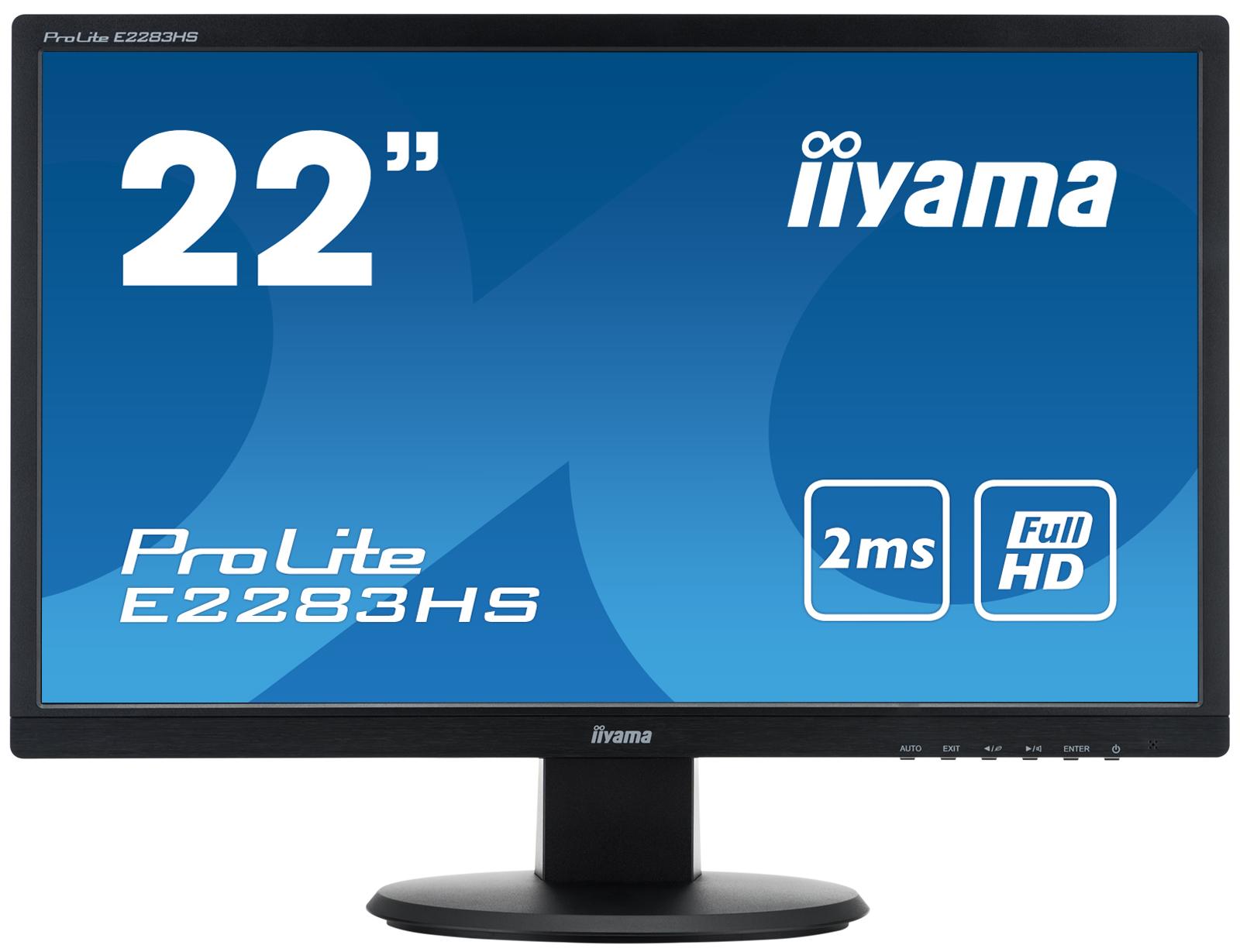 "iiyama ProLite E2283HS-B1 21.5"" Black Full HD LED display"