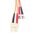 Videk 50/125 (OM3) SC - ST 3m SC ST OM3 Orange fiber optic cable