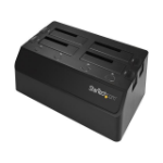 StarTech.com SDOCK4U313 storage drive docking station USB 3.2 Gen 2 (3.1 Gen 2) Type-C Black