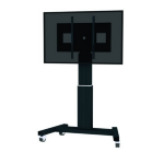 "Newstar PLASMA-M2500BLACK 100"" Portable flat panel floor stand Black flat panel floorstand"