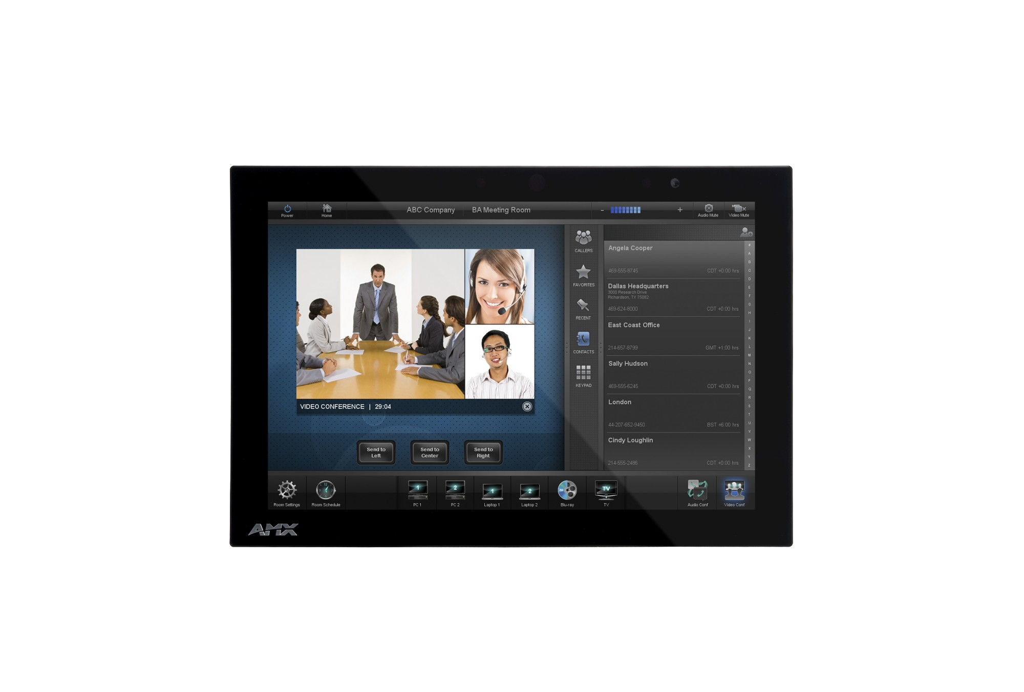 "AMX MXD-1000-NC 10.1"" 1280 x 800pixels Multi-user Black touch screen monitor"