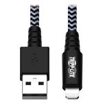 Tripp Lite M100-010-HD Heavy-Duty USB-A to Lightning Sync/Charge Cable, MFi Certified - M/M, USB 2.0, 10 ft. (3.05 m)