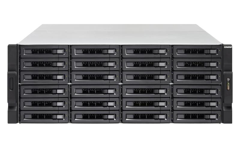 QNAP TS-EC2480U R2 NAS Rack (4U) Ethernet LAN Black, Grey