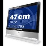 "Wortmann AG TERRA ALL-IN-ONE-PC 1900 47 cm (18.5"") 1366 x 768 pixels Intel Pentium Mobile 2 GB DDR2-SDRAM 320 GB Intel® GMA 950 Windows 7 Professional Black, Silver"