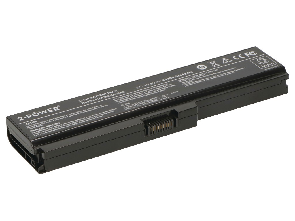 2-Power 10.8v, 6 cell, 47Wh Laptop Battery - replaces B-5323