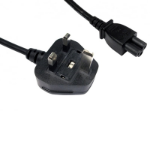 UK Mains to Clover C5 5 Amp 1.8m Black Power Cable