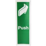 FSMISC SIGN 150X50 PUSH S/A