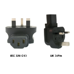 InLine IEC 320-C13 to UK 3-Pin Power Adapter