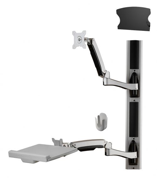 Sit Stand Combo Workstation Wall Mount