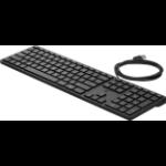 HP 320K keyboard USB QWERTY English Black