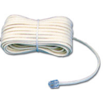 MCL Cable Modem RJ11 6P/4C 3m cable telefónico