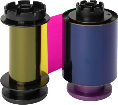 Evolis color ribbon (YMCFK) retransfer