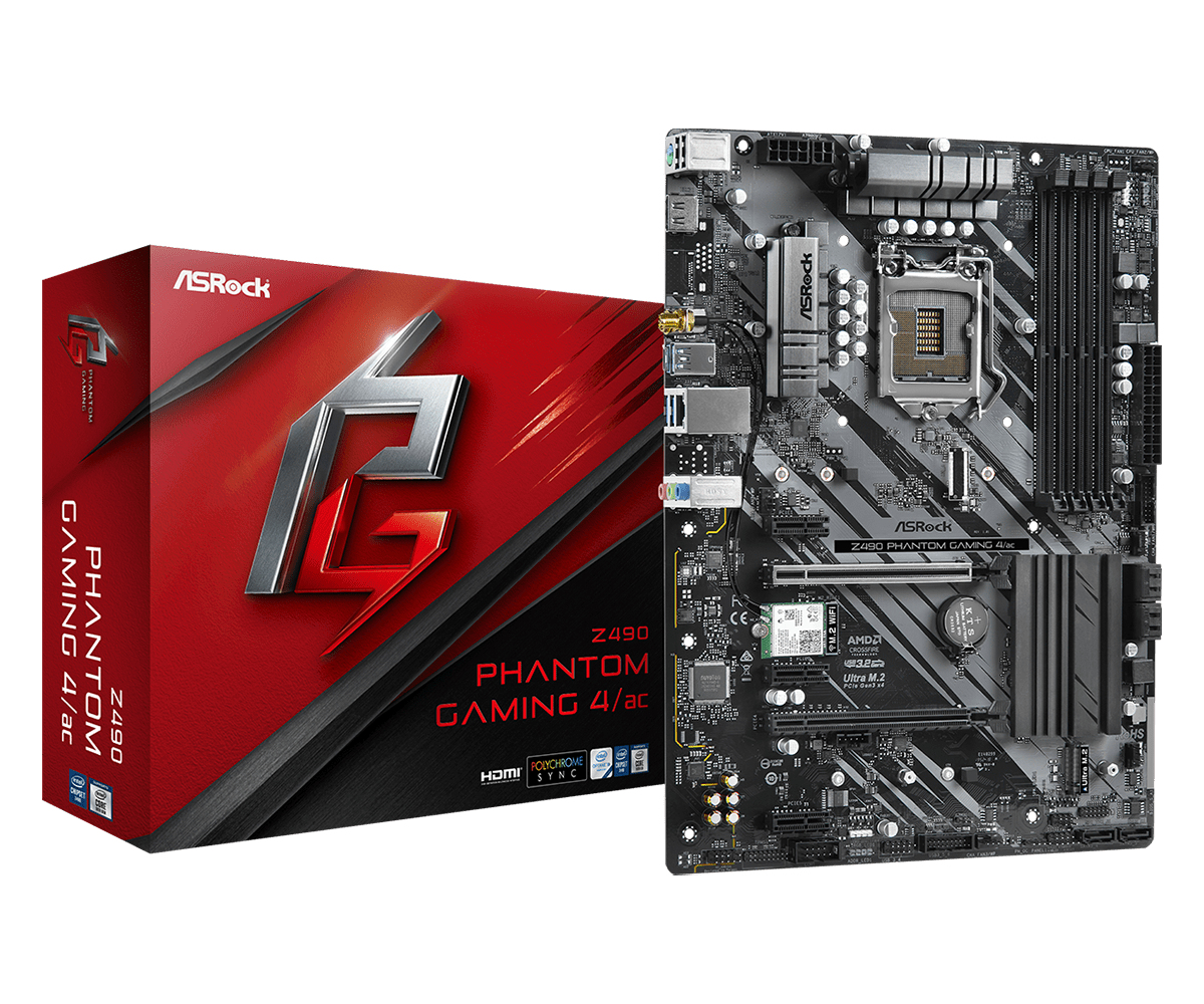 Asrock Z490 Phantom Gaming 4/ac motherboard ATX Intel Z490