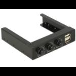 DeLOCK 62714 3channels Black fan speed controller