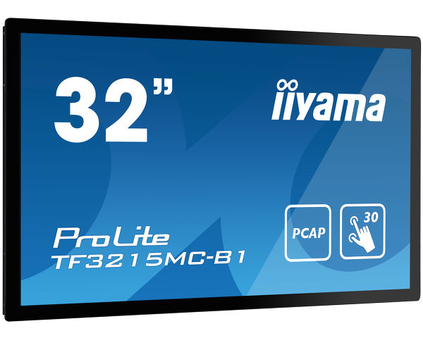 "iiyama ProLite TF3215MC-B1 touch screen monitor 81.3 cm (32"") 1920 x 1080 pixels Single-touch Kiosk Black"