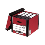 Bankers Box Fellowes Premium Presto Tall Box Red PK10