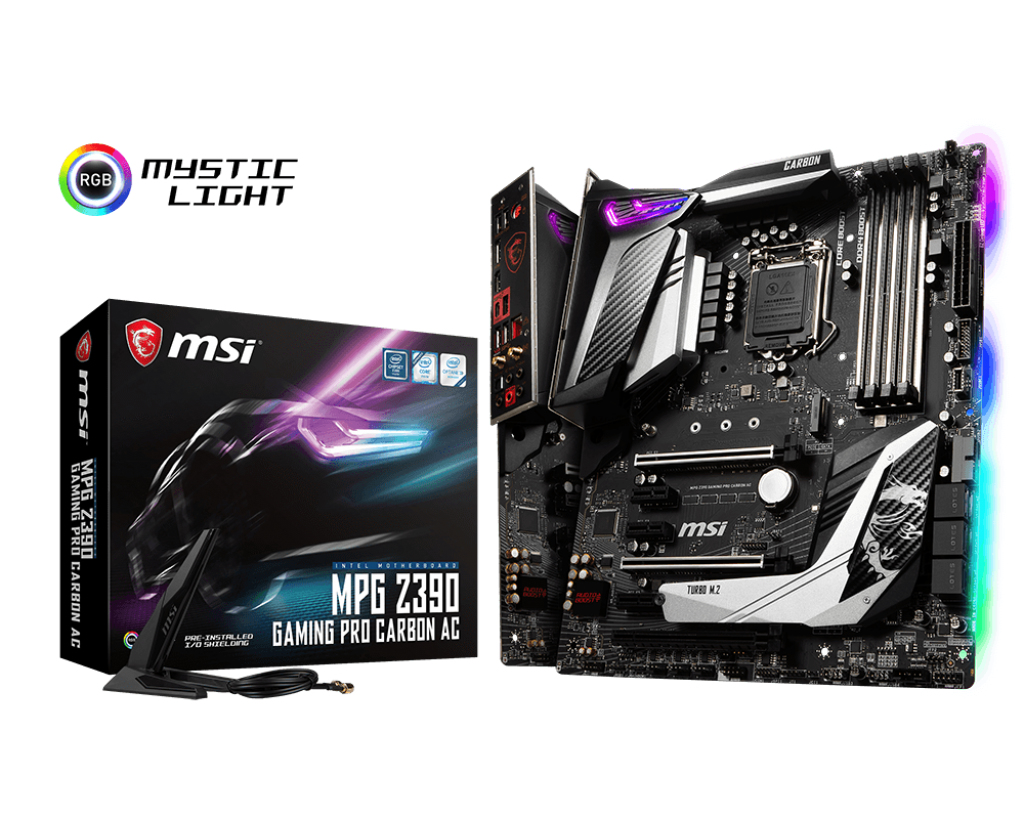 MSI MPG Z390 GAMING PRO CARBON AC motherboard LGA 1151 (Socket H4) ATX Intel Z390