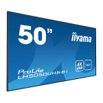 "iiyama LH5050UHS-B1 signage display 127 cm (50"") LED 4K Ultra HD Video wall Black"
